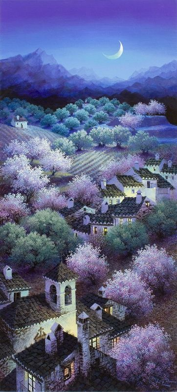 """kitchensauce: """"Almonds and Olive Groves by Luis Romero """""""
