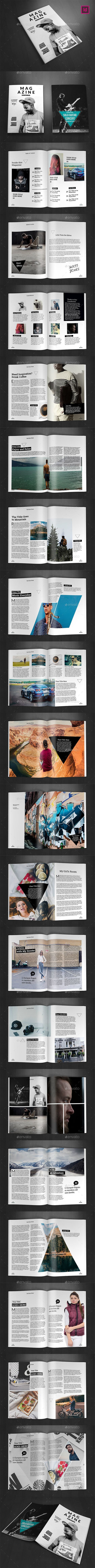 A4 Magazine Template Vol.23 — InDesign INDD #nature magazine #minimal design • Download ➝ https://graphicriver.net/item/a4-magazine-template-vol23/18956408?ref=pxcr: