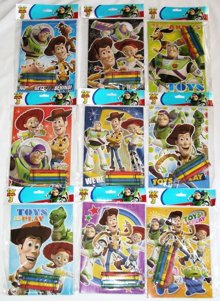 12 Toy Story 3 Disney Pixar Coloring Book & Crayon Set School Party Favor Supply