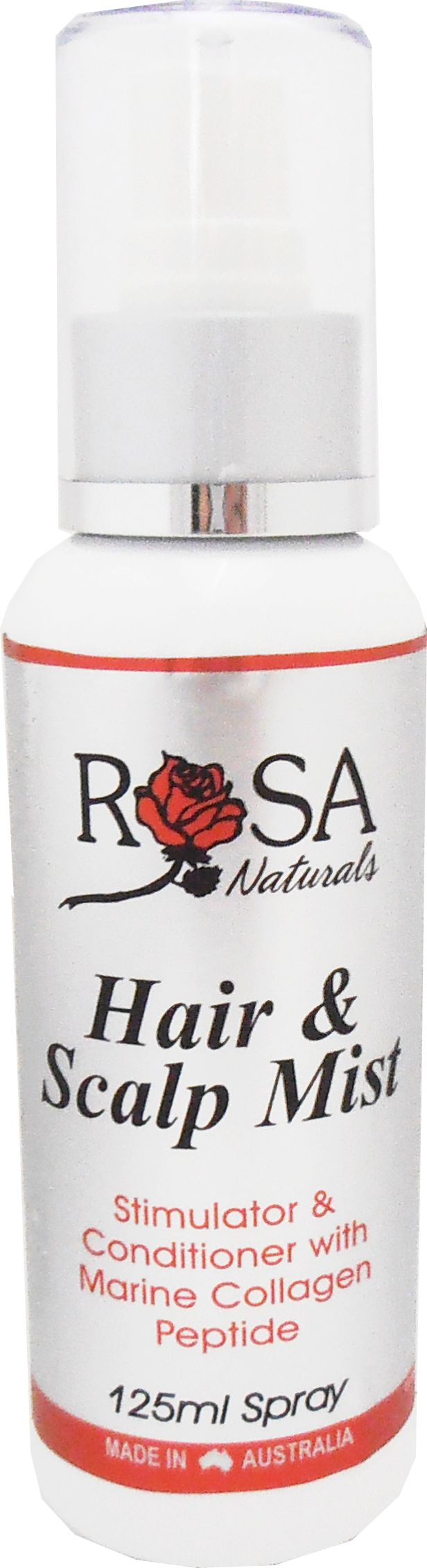 """Do you feel dryness and flakiness for head? Try """"Hair & Scalp Mist"""" from Rosa Naturals!  Stimulator & Conditioner with Marine Collagen Peptide Special unique nutritive, mineral and fatty acid rich hair tonic with highly active herbs and essential oils to invigorate the condition of the hair and scalp. *Helps maintain a healthy scalp environment to maximise healthy hair growth *Helps maintain natural hair colour and condition *Helps protect scalp from dryness and flakiness"""