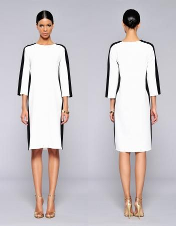 Great dress in black and white from talented Hungarian designers
