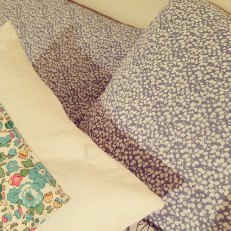 New pillowcases made from Liberty Tana Lawn.