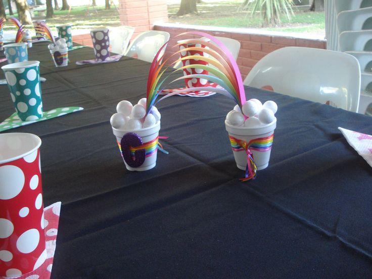 Adornos para mesa arco iris