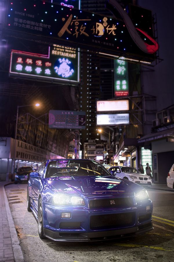 Nissan Skyline R34 on the streets of Hongkong by Lukas Sauseng on 500px