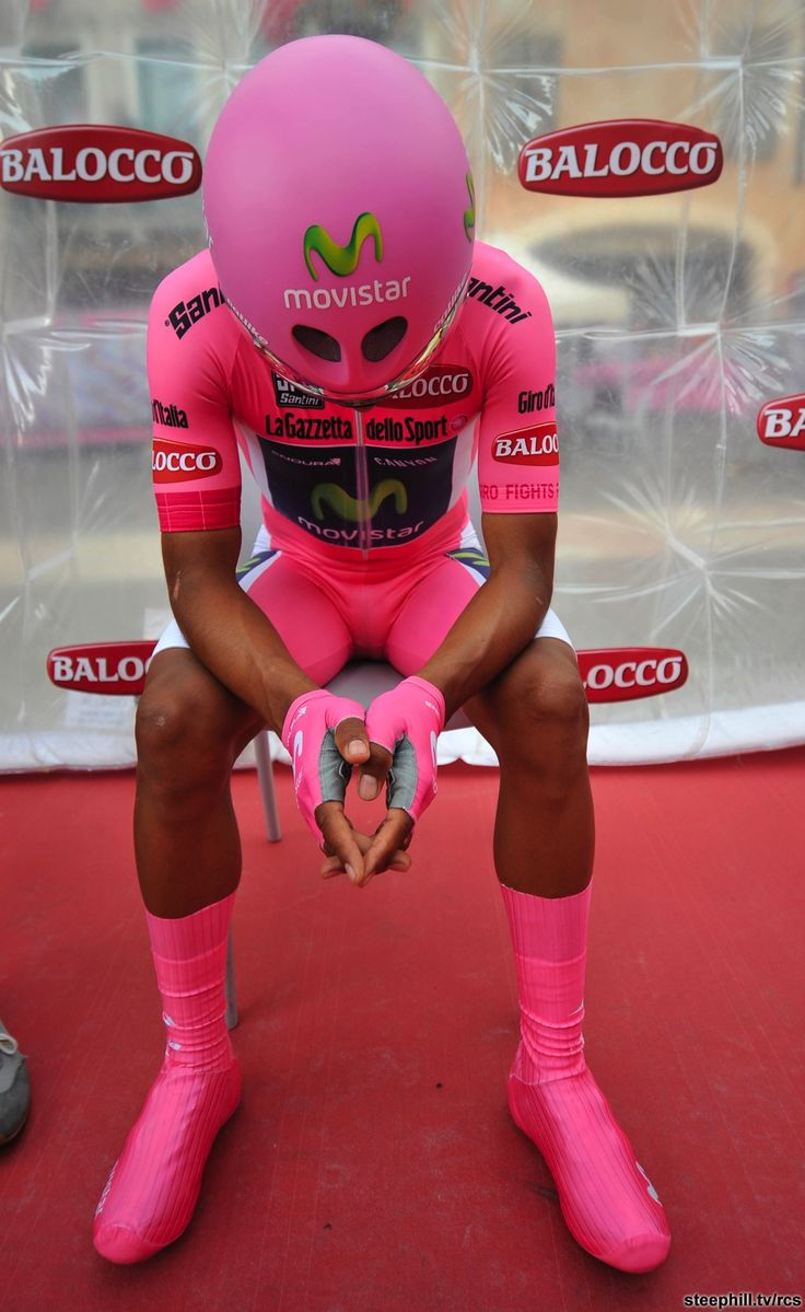 Giro 2014 - 19 (Bassano del Grappa - Cima Grappa, 26.8 km ITT) : Dare we say, Nairo Quintana (Colombia / Movistar) looked extraterrestrial today.