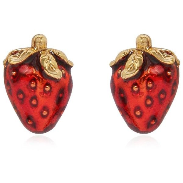 MARC JACOBS Strawberry Pendant Earrings - Silver ($98) ❤ liked on Polyvore featuring jewelry, earrings, marc jacobs, marc jacobs earrings, antique silver pendant, silver pendant and chain pendants