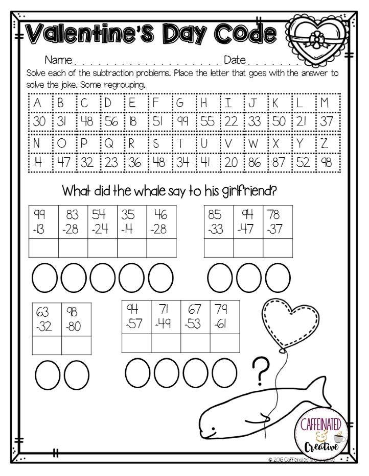1000 images about valentine 39 s day math ideas on pinterest. Black Bedroom Furniture Sets. Home Design Ideas