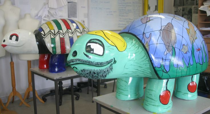 Art students participated in the Lowestoft Turtle Trail. Here are their designs.