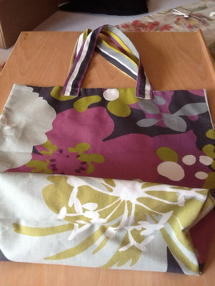 Coat hanger bag made to coordinate with furnishings and peg bag