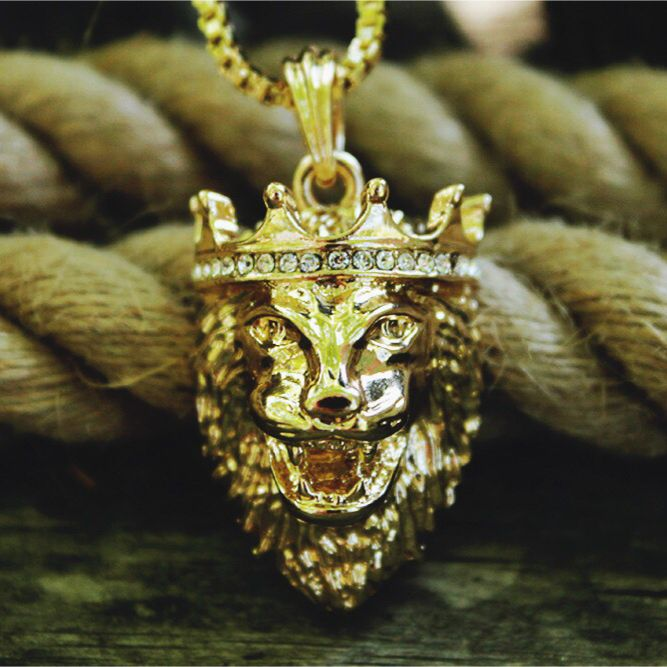 New Iced Out King Lion Pendant Amp 2mm 24 Quot Box Chain Hip Hop