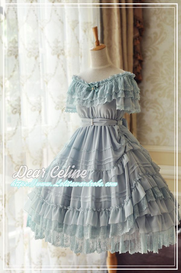 DearCeline -The Little Mermaid- Unicolor Sweet Classic Lolita OP Dress
