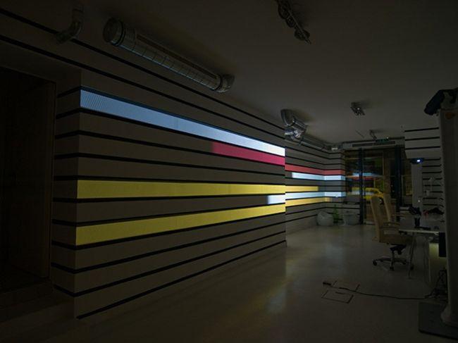 Kunst Installation LED Videowand Beleuchtung