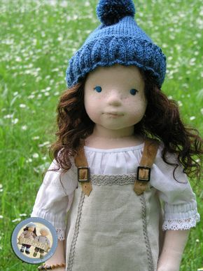 Diana- soft sculpted cloth doll by Lalinda.pl