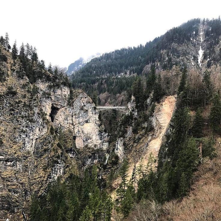 "Marienbrücke, Bavaria, Germany 🇩🇪 _shutterbug_ (@_shutterbug_bec_) on Instagram: ""View of the bridge from the castle 🏰 #neuschwanstein #bavaria #bridge #marienbrücke"""