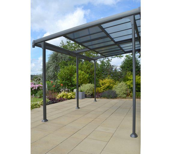 Buy Aluminium 4m X 3m Wall Gazebo With Retractable Roof Gazebos Marquees And Awnings Argos Outdoor Awnings Pergola Gazebo