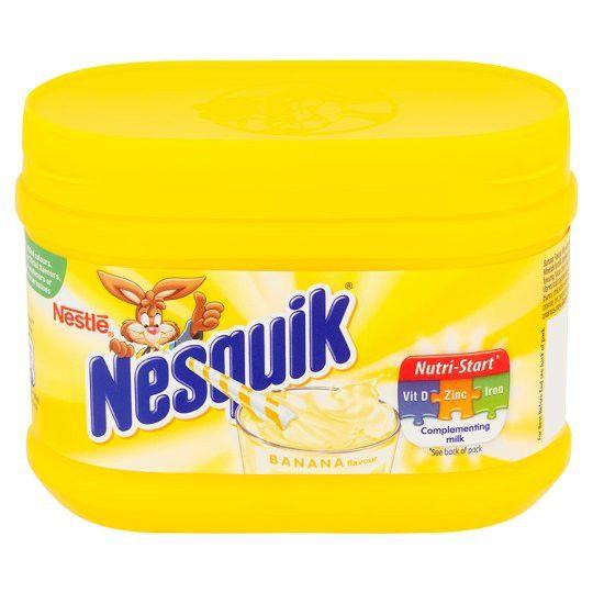 -in USA- Nesquik BANANA Flavor Milkshake with Vitamins Drink Mix -300g
