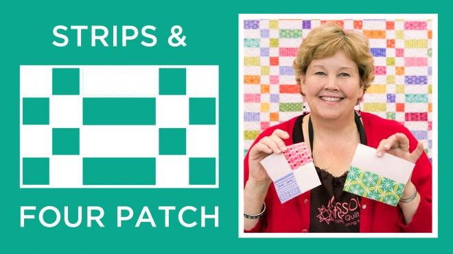 Strips and Four Patch Quilt Uses 1 jelly roll (variety) and 1 jelly roll white (or other solid)
