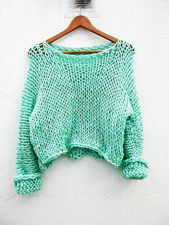 Jersey en color verde por armarioenruinas en Etsy