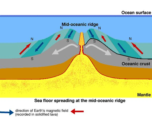 Sea Floor Spreading W/ Magnetic Stripes | Images   Plate Tectonics |  Pinterest | Plate Tectonics, Earth Science And Earth Science Lessons