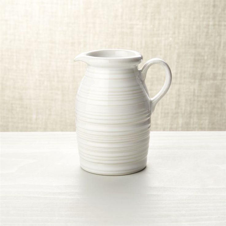 Free Shipping.  Shop Farmhouse White Syrup Pitcher.  Crafted by skilled Portuguese artisans, our microwave-safe stoneware syrup pitcher is the perfect complement to the coordinating pancake warmer for farm-fresh pancake and waffle breakfasts and suppers.