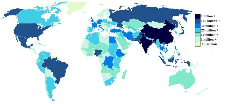 befolkning världen - Sök på Google