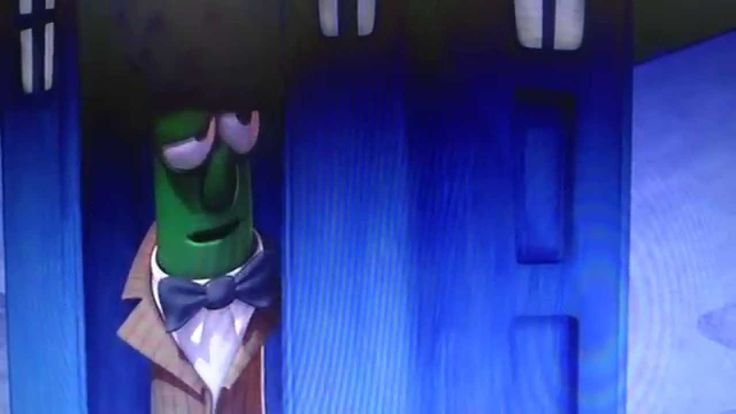 Doctor Who Appearance in VeggieTales. Guys, they did it. They did the thing. Did people know this was a thing?<-- I knew it was a thing. And when watching the thing I nearly had a heart attack and was fangirling so hard I didn't hear the dialogue and needed to rewind it to see it.
