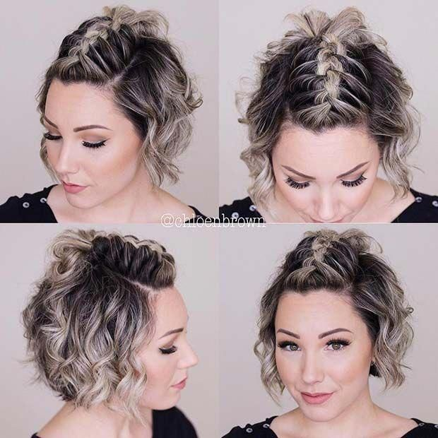 15 Cool And Easy Braids Hairstyles For Short Hair Short Hair Mohawk Cute Hairstyles For Short Hair Braids For Short Hair