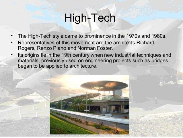 hi tech architecture characteristics - Google Search