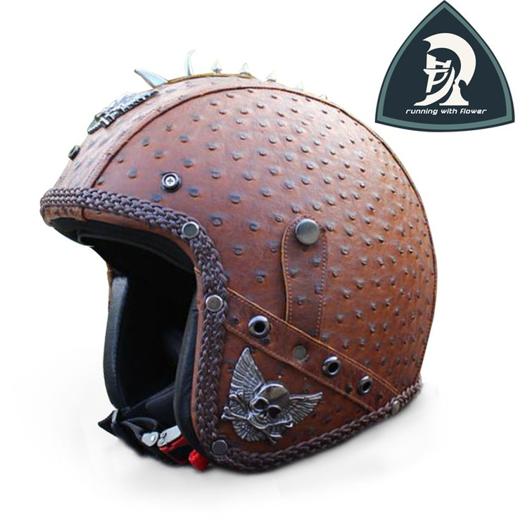 2016 New Black Classic Hand knitting Open Face Bullet Leather Helmets For Motorcycle Novel Moto Leather Half Helmets XXL DOT-in Helmets from Automobiles & Motorcycles on Aliexpress.com | Alibaba Group