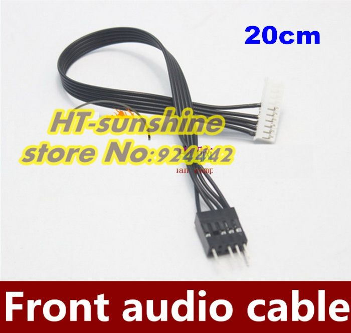 High Quality  2PCS/LOT   Creative Sound Card 5.1/7.1 front audio panel line SB0350 0460 transfer cable 20CM
