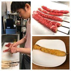 今日ご紹介する串揚げは新ごぼうの牛肉巻きです 熊本県菊池産の新ごぼうを牛肉で巻いて串揚げにしています 衣に包んで串揚げにする事でごぼうの香りや旨みを逃がさないため柔らかい新ごぼうを存分に楽しんで頂けます ゴボウの香りと歯ごたえ牛肉の旨味をご堪能ください  #串cafeたまねぎ #串揚げ #創作串揚げ #熱々 #福岡市 #西区 #愛宕 #月替わりメニュー #旬の素材 #新ごぼう #牛肉巻き tags[福岡県]