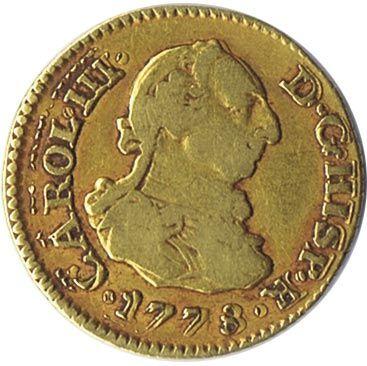 Moneda de oro 1/2 escudo Carlos III 1778 Madrid PJ.