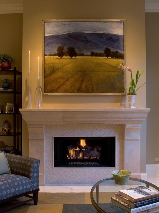 Large Piece Over Fireplace Stunning Artwork Pinterest