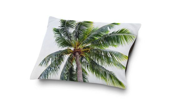 A beach tropical bedding accent for your four-legged home companion, this pet bed pillow style accessory features coral fleece top side display of a