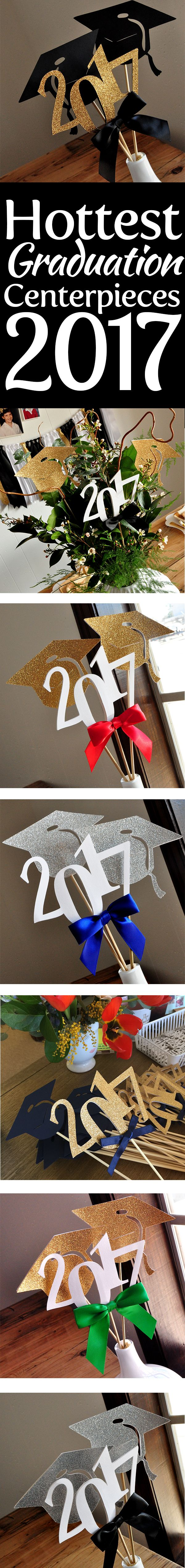 Super cute graduation centerpieces! I love how these can match my child's school colors! These would be perfect for my son and daughter!