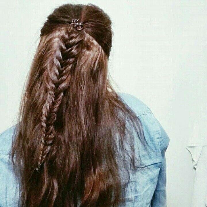 #fishtailbraid #halfponytail #hairstyle #braid