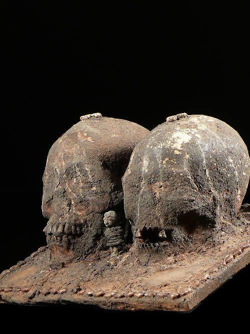 Crane Relique - Ethnie Fon - Benin - Cranes reliques