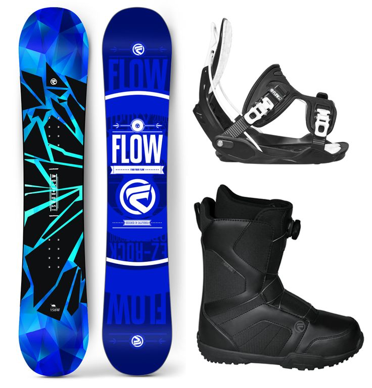 2016 Flow Burst Snowboard Package Flow Bindings BOA Boots