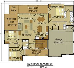 One Or Two Story Craftsman House Plan Basements: two bedroom house plans with basement