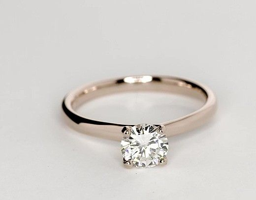 059 carat diamond monique lhuillier amour solitaire engagement ring - Elegant Wedding Rings