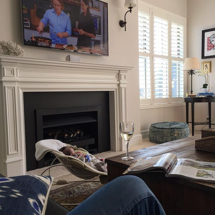 See This Instagram Photo By Lisaraekay 68 Likes Fireplace Mantle New Homes Home Our hamptons inspired living roomcoming