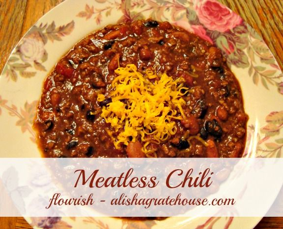 Meatless Chili - Crock Pot Recipe I am using as a guide will most likely add some different ingredients