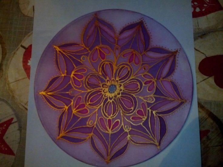 Mandala selyemfestéssel