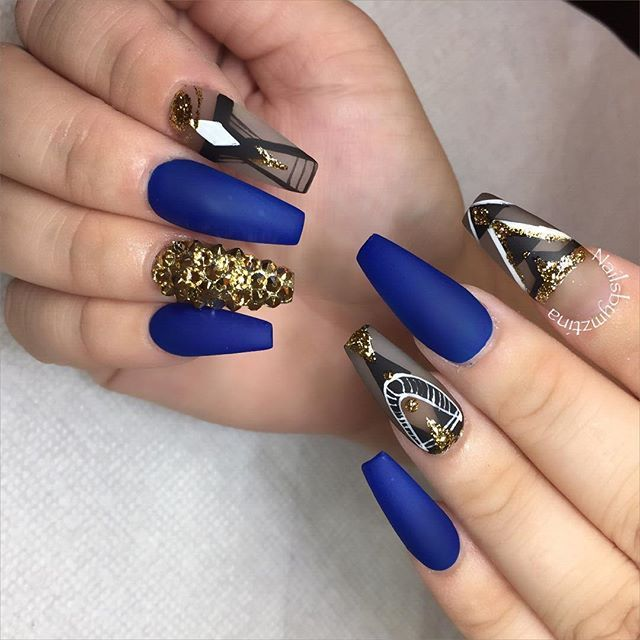 1525 best manipedi 1 images on pinterest acrylics acrylic toes blue and gold nail art prinsesfo Images