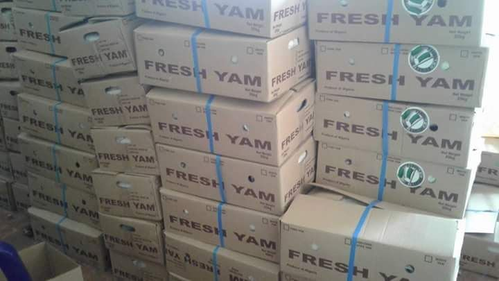 Packaging of yams for UK and USA ongoing in Makurdi Benue State in preps for the flag off of Nigeria Yam Export at Lilypond Container Terminal Ijora Lagos on Thursday 29th June 2017  Credit: Favour Adah  http://ift.tt/2sV124o Agriculture news