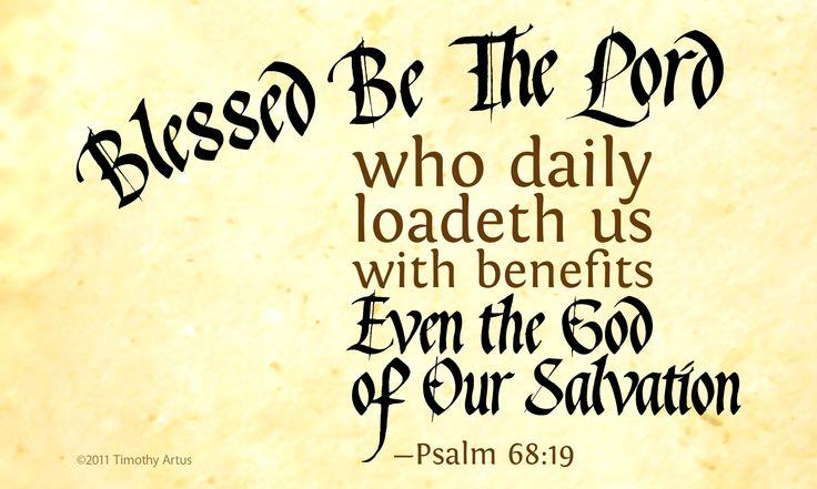 Psalm 68:19 Bible verse