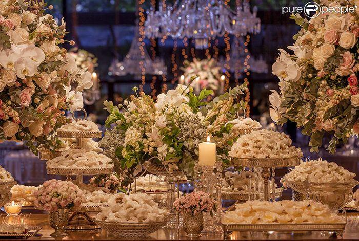 12 - Casamento da Fernanda Souza e do Thiaguinho - mesa de doces