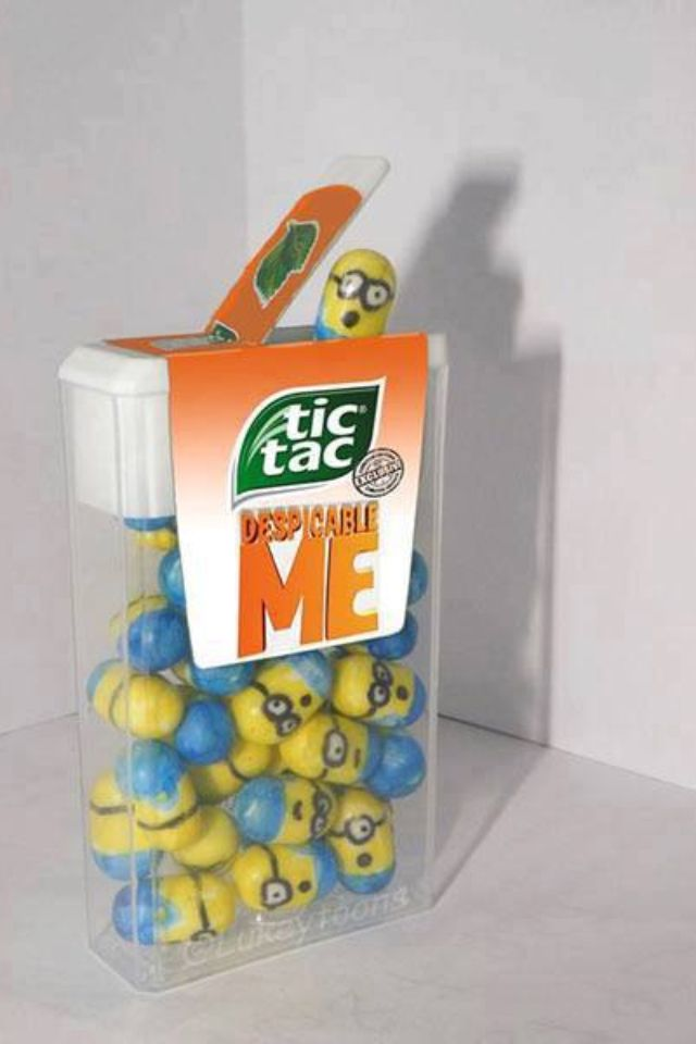 Minions!i wouldn't eat them, they're so adorable and sweet :) (and I don't like tic tacs)