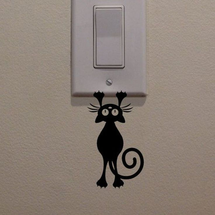 Aliexpress.com : Buy Kitten Cat Hanging Light Switch Decal Wall Sticker Eco friendly PVC Wall Murals Art Home Decor Removable Wallpaper Bedroom Kids from Reliable wallpaper decor suppliers on Kililaya