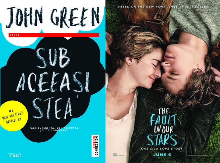 """Sub aceeasi stea"" de John Green - carte si film!!!"